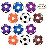 Palline calcio balilla 12pcs, Oziral ricambio per biliardino colorati da 36mm Gioco di calcio per adulti e bambini (12 Pcs)