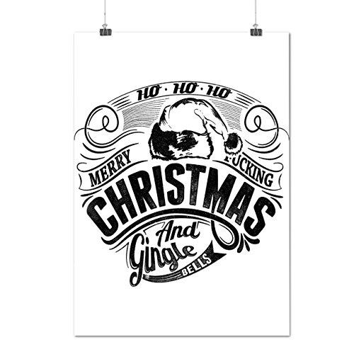 Gingle Glocken Weihnachten Ho Fröhlich Mattes/Glänzende Plakat A4 (30cm x 21cm) | Wellcoda