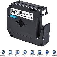 Black on White Label Tape Compatible for Brother PT-65/PT-70/PT80 Label Printer 9mm * 8m