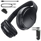 Bose QuietComfort 35 Bluetooth Wireless Noise Cancelling Headphones - Black & Car Charger - Bundle