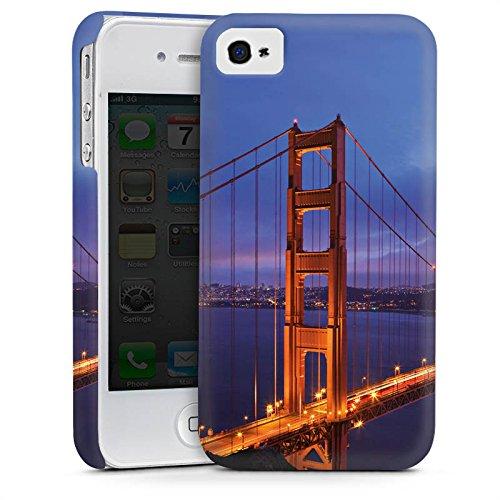Apple iPhone 5s Housse Étui Protection Coque Pont du Golden Gate San Francisco Amérique Cas Premium mat