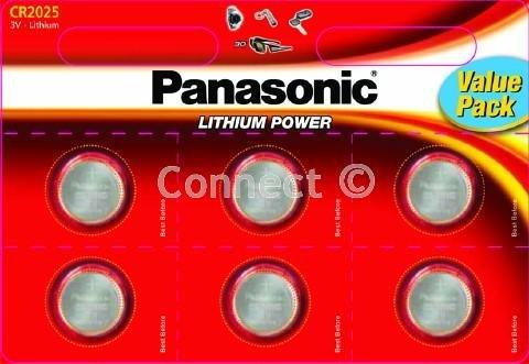 Panasonic CR2025 Batterie Knopf CR2025 Knopfzellen ECR2025 NA DL2025 BR2025 208-205 DL20256B BR 2025-1W CR 2025-1W L12 KCR2025 LM2025 SB-T14 LF1/2 V 5003LC-Verbrauchsmaterial Panasonic Sb