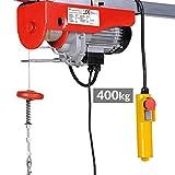 Timbertech Elektrische Seilwinde mit Kabel-Fernbedienung Motorwinde Tragfähigkeit 400 kg, 230 V