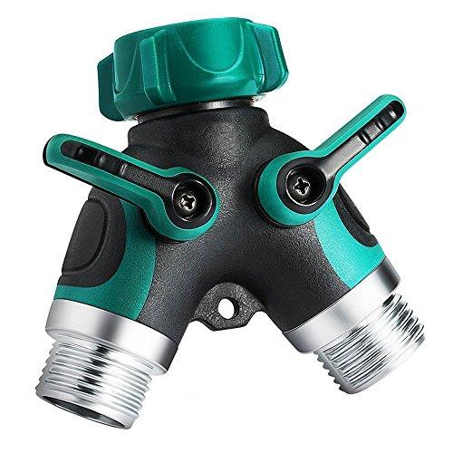 RSGK Y-Garden Wasser-Bewässerungs-Separator 2 Wege-Schlauchseparatoren mit Einem Komfortablen Gummigriff Beinhaltet der Long Life Bonus: 6 Unterlegscheiben.