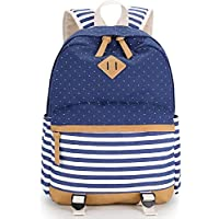 YiSherry Canvas Laptop Bag Shoulder Daypack School Backpack Causal Handbag