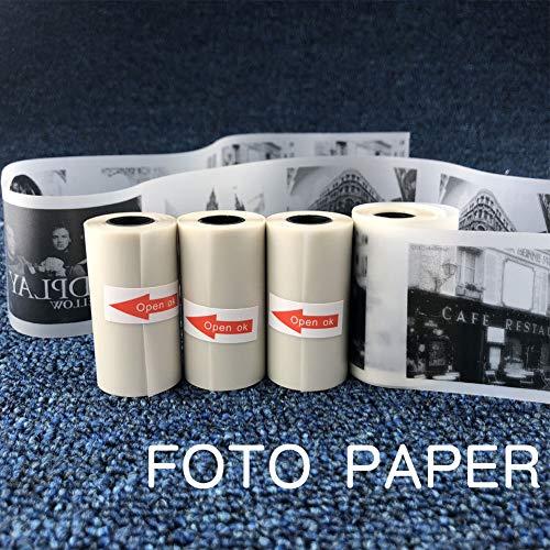 Kuizhiren1 Selbstklebender Aufkleber Thermodruck,57x30mm Halbtransparentes Thermopapierpapier für Paperang-Fotodrucker
