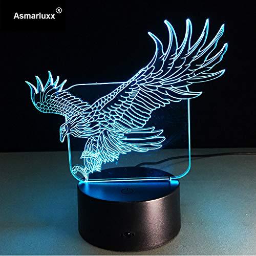 Flying Big Eagle Form Nachtlicht Bunte Hawk 3D Tischlampe Für Büro Hotel Schlafzimmer Bar Wow Erstaunliches Geschenk Für Jungs Freunde