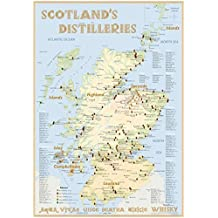 Whisky Distilleries Scotland - Poster 70x100cm Standard Edition: The scotisch Whisky Landscape in Overview