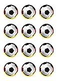 Muffinaufleger Muffins Amerikaner Kindergeburtstag Fußballparty Tortenaufleger Fußball Deutschland FB03