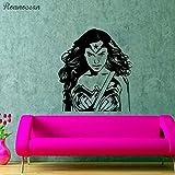 zqyjhkou Super Girl s Hero Art Dekorative Sticker Wonder
