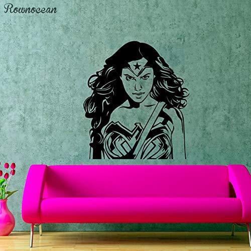 zqyjhkou Super Girl s Hero Art Dekorative Sticker Wonder Woman Silhouette Design Mädchenzimmer Wandgrafiken Actionfilme Poster Sp10 M 42x47cm