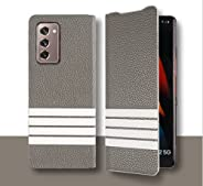 ELECDON Case for Samsung Galaxy Z Fold 2 5G W21 Case PU Leather Thin Premium Shookproof Full Protection Cover