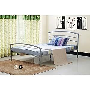 lits et matelas lit enfant style fer forg gris 90 x 190 cuisine maison. Black Bedroom Furniture Sets. Home Design Ideas
