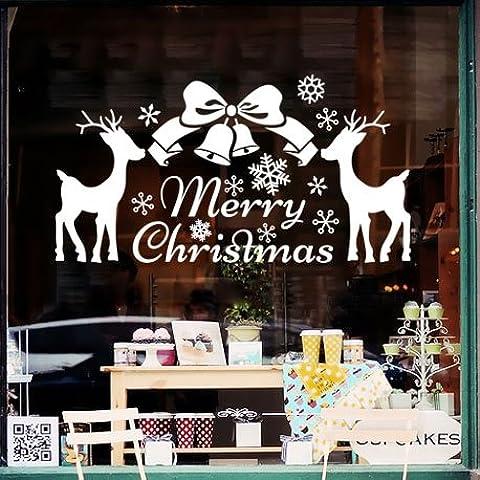 Parete di Natale Natale carta vetro Sorok vetrofania con negozi di superficie , Rosso ,58*30cm decorazioni
