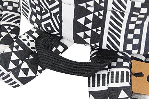 Yiuswoy Retro Nationalen Wind Muster Leinwand Taschen Reisetaschen Schultaschen Rucksack Fuer Schule – Farbe E - 6
