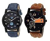 Om Designer Analogue Multicolor Dial Men's Watch-Den-234 (Pack Of 2)