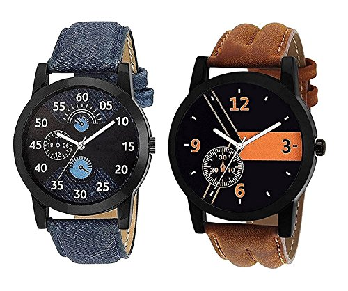 Om Designer Analogue Multicolor Dial Men's Watch-Den-234 (Pack Of 2)