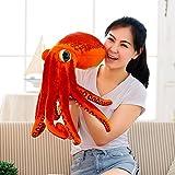 POPRY Il Polpo il giocattolo di peluche Bambola Doll pesce seppie calamari ottagonale a cuscino divertente regalo di compleanno,55 Cm