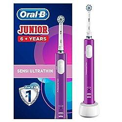 Oral-B Junior Wiederaufladbare Elektrische Zahnbürste, ab 6 Jahren, lila