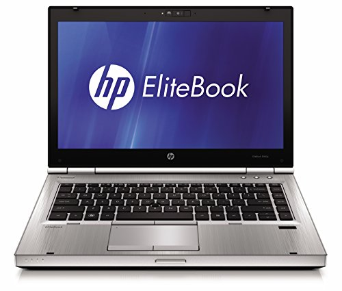 'HP EliteBook 8460p – PC portatile – 14 – Grigio (Intel Core i5 2520 M/2.50 GHz, 8 GB di RAM, disco SSD 120 GB, Masterizzatore DVD, Wi-Fi, Windows 10 professionale)