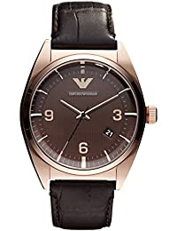 b1223a8df6c02 Amazon.es  Emporio Armani - Marrón  Relojes