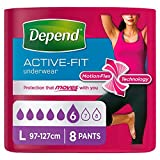 Depend Active Fit Underwear Large 8 Pack