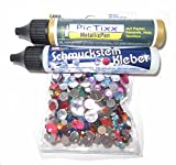 """FEIHOFF - Schmucksteine-Set Kreativset Kreisform """"Bunt"""" ca.500 Teile"""
