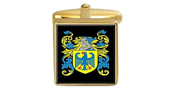Select Gifts Kirkpatrick Scotland Family Crest Coat Of Arms Gold Cufflinks Engraved Box