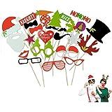 ULTNICE 27Pcs bricolaje foto Booth Props y accesorios foto para Navidad cumpleaños boda