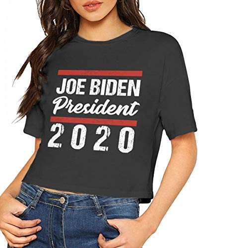 Joe Biden 2020 Women's T - Shirt,Women's Cropped Top Leaking Navel T-Shirt Joes Jean Cropped Pant