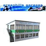 Greenhills Scalextric Slot Car Building Reims Press Box Kit 1:43 Scale