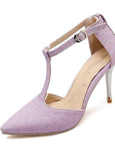 ShangYi Damenschuhe-High Heels-Hochzeit / Kleid / Party & Festivität-Glanz-Stöckelabsatz-Absätze-Schwarz / Lila / Grau / Gold Purple