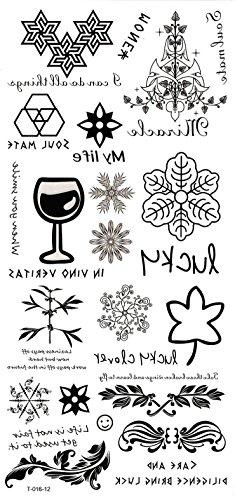Grashine lange letzte temporäre Tattoos Verschiedene einzigartige Grafik-Design aussehen wie echte temporäre Tätowierung Aufkleber mit Blumen, Blätter, usw. (Grafik Lange)