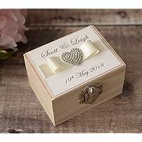 Personalised Wedding Ring Box. Handmade Ring Box. Wedding Gift.