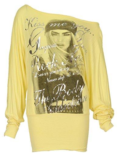 Fast Fashion - Canotta - Eslogan  - Maniche lunghe  -  donna Du Vin