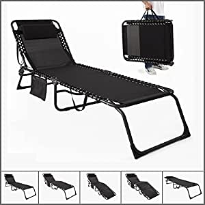 sobuy ogs10 sch transat bain de soleil chaise longue de jardin plage pliant chaise de camping. Black Bedroom Furniture Sets. Home Design Ideas