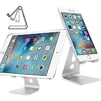 Multi-Angolo di alluminio Stand [Rilasciato novembre 2015], Nulaxy Rotary Smartphone Tablet supporto per Apple iPhone 6 6S Plus, Mini iPad, Galaxy Note 5, S6 Edge+, LG, Sony, Nexus, Motorola maggior dispositivi mobili -Silver