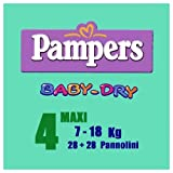 Pampers Baby-Dry 4 Maxi 7-18 Kg 26+26 Pannolini