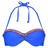 Hunkemöller Damen Vorgeformtes Strapless-Push-up-Bügel-Bikinitop Summer Bling Blau C75133941