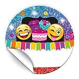 JuNa-Experten 48 Aufkleber Party-Glitzer für Geschenkverpackung / Sticker für Verpackung vom Gastgeschenk Beim Geburtstag Hochzeit Kindergeburtstag Fest