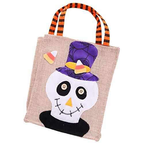 LOVIVER Halloween Kürbis Tasche Kids Candy Bag Kinder Tasche - Schädel