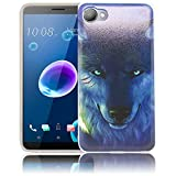 thematys HTC Desire 12 Nacht Wolf Handy-Hülle Silikon - staubdicht stoßfest & leicht - Smartphone-Case