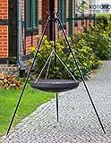 Korono Schwenk BBQ WOK Grill 70 cm Stahl Dreibein Gestell 180cm Schwenkgrill - für alle Outdoor Feste & Grill Partys