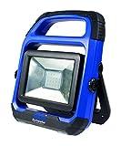 as - Schwabe 46492 CHIP-LED-Strahler 20W mit wechselbarem Akku, IP 54 Baustrahler, für Aussen und Baustelle, W, 230 V, Blau, 20 Watt