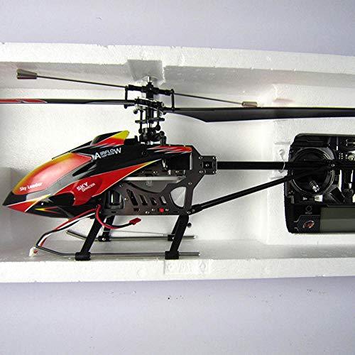 Ycco RC Flugzeug Modellflugzeug Flugzeuge Indoor Fernbedienung Hubschrauber mit Gyro und LED-Licht 3,5-Kanal-Mini-Spielzeug für Kinder Erwachsene Anfänger Geschenk