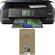Epson Expression Photo XP-960 Tintenstrahl Multifunktionsdrucker schwarz + Epson T2428 Elefant, Claria Photo HD Tinte (CYMK) + passende Druckerpatrone