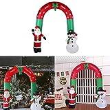 XSWE 2.4 M Lindo Muñeco De Nieve Inflable Gigante De Santa Claus Arcos De Navidad Decoración De Arcos para La Decoración De La Puerta del Hogar