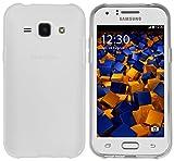 mumbi Coque de protection pour Samsung Galaxy J1 (2015) (ne convient pas pour Galaxy J1 2016) TPU gel silicone transparent blanc