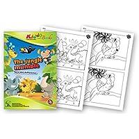 QuackDuck libro para colorear The Jungle Mumble - Jungla bomba - Spot The Difference - Encuentra la diferencia - Bloc para niños a partir de 5 años