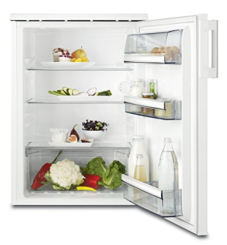 AEG RTB91531AW Kühlschrank/energieeffizienter Kühlschrank (A+++)/freistehender Kühlschrank ohne Gefrierfach/150 l/Design mit Arbeitsplatte/Kühlschrank mit Glasablagen/H: 85 cm/weiß